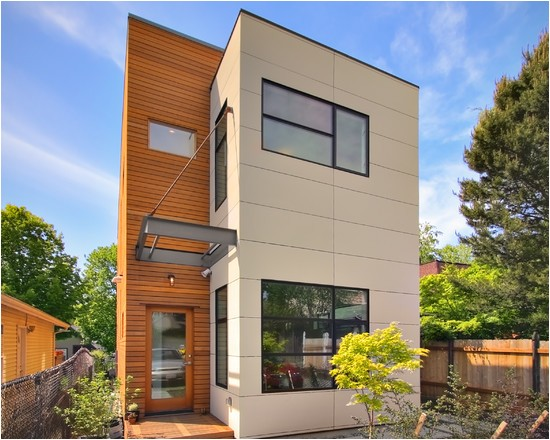contemporary home plans narrow lots