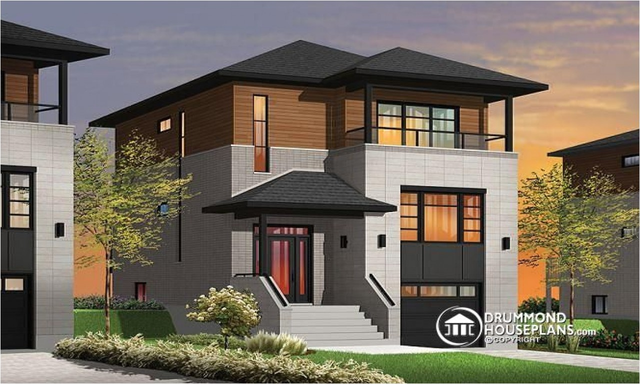 65cd2f15aa9dcbf3 narrow lot homes with porches contemporary narrow lot house plans
