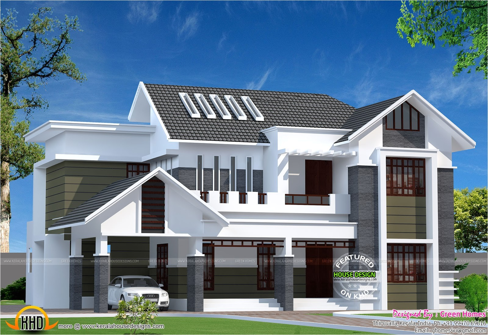 Modern Home Plans In Kerala 2800 Sq Ft Modern Kerala Home Kerala Home Design  And