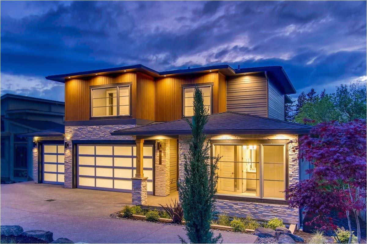 large modern house plans garage