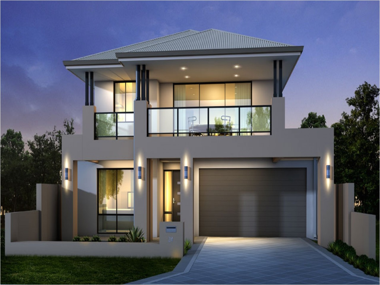 modern two storey house designs 2