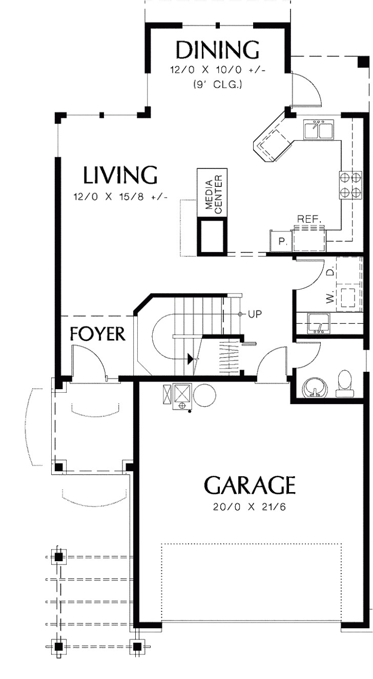 narrow lot 4 bedroom house plans