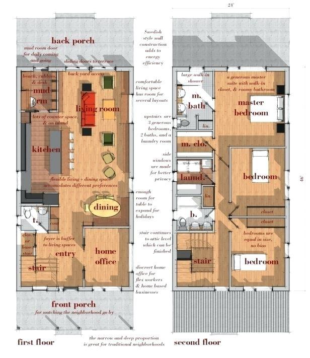 ultra modern narrow lot house plans