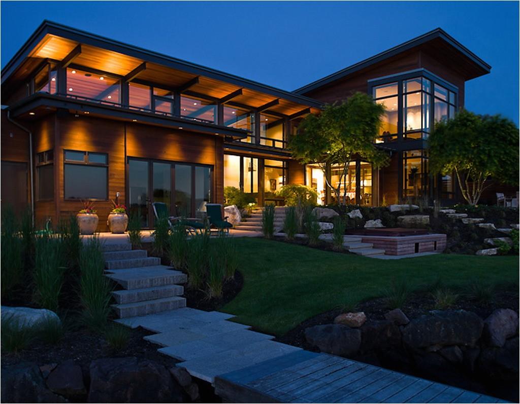 house design modern open around central