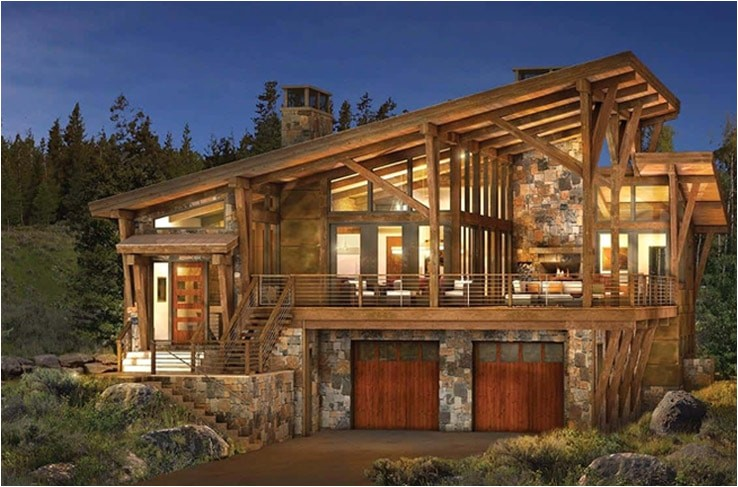 Modern Log Home Plans Modern Log and Timber Frame Homes and Plans by