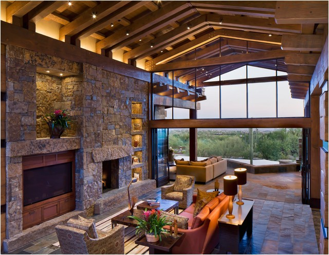 modern post and beam contemporary family room phoenix