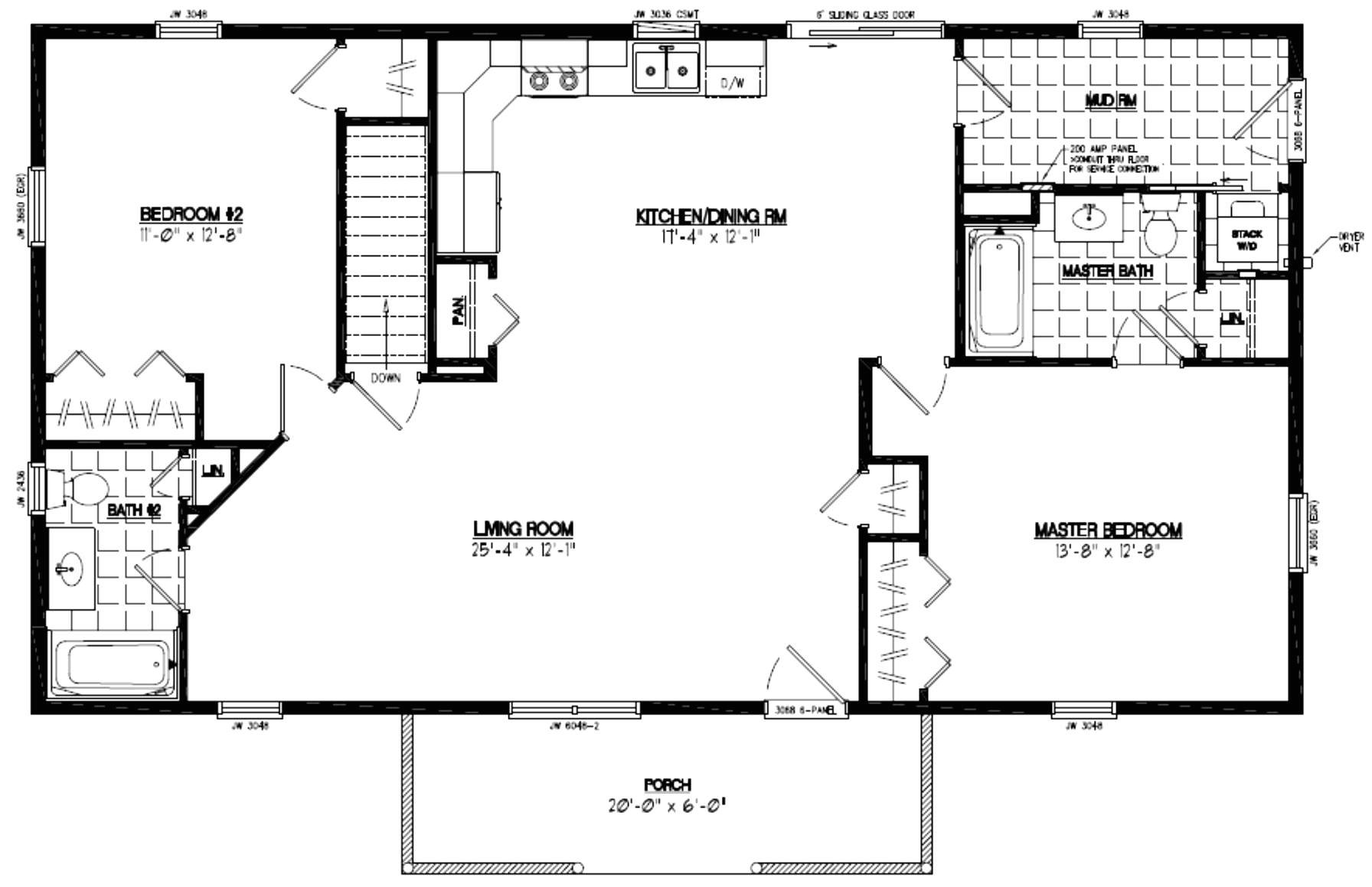 t ranch modular home floor plans