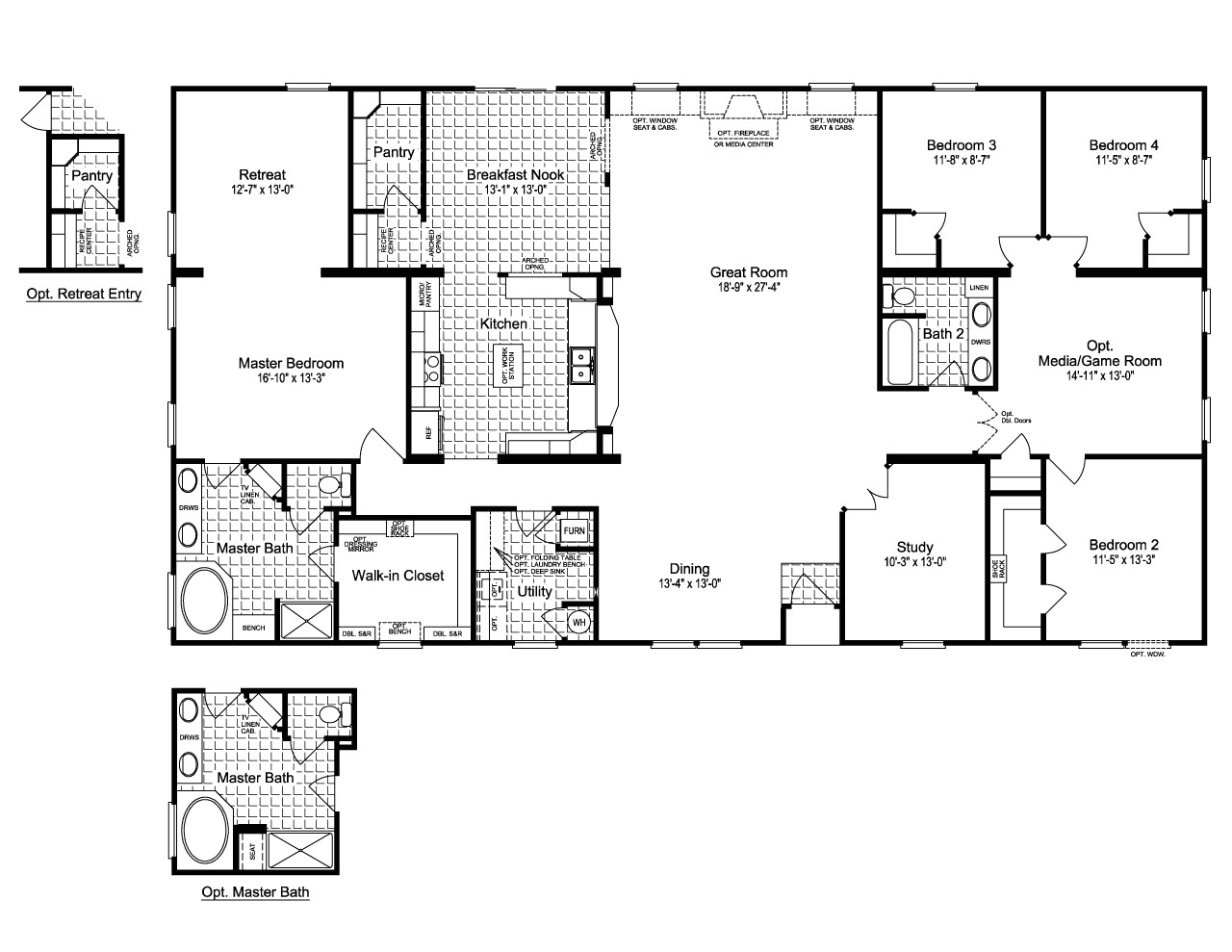triple wide mobile home floor plans texas