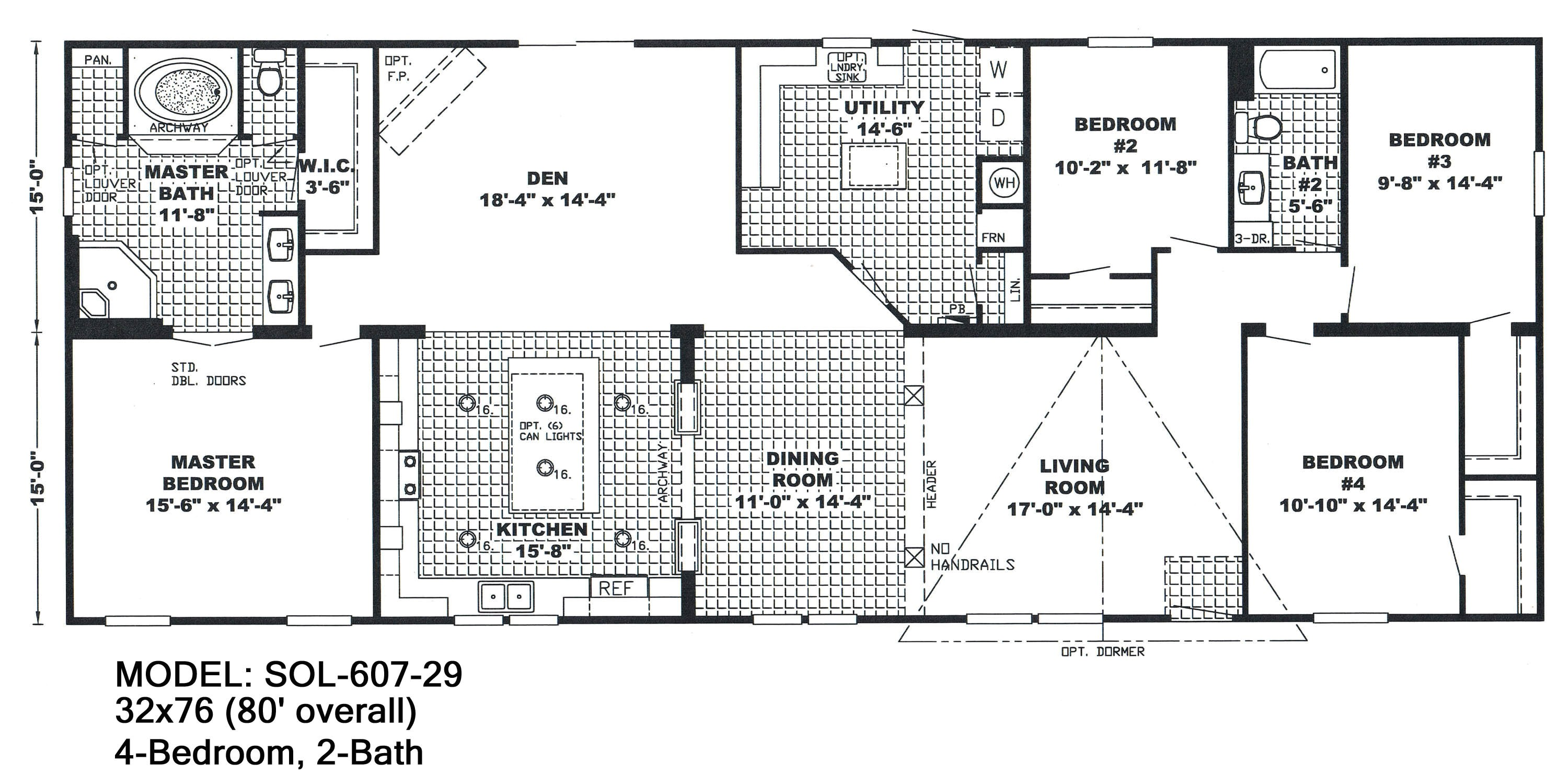 Modular Homes 4 Bedroom Floor Plans 4 Bedroom Double Wide Mobile Home Floor Plans Unique
