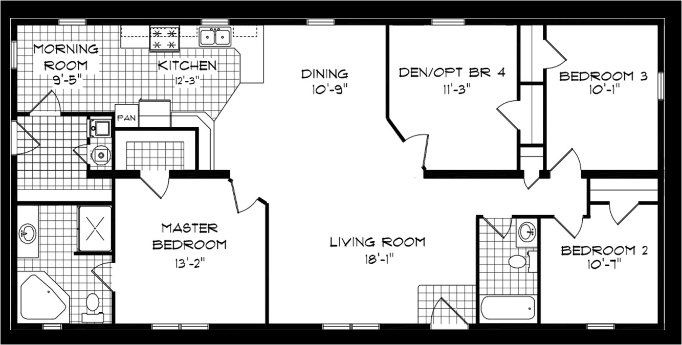 mobile home floor plans texas also 4 bedroom single wide g delightful fleetwood