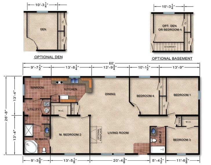 25 great modular homes with basement floor plans ideas