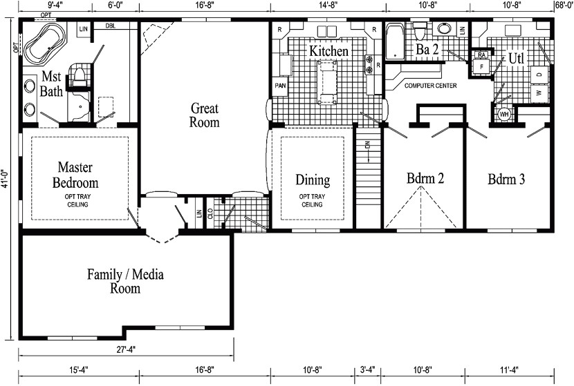 modular home plans with basement