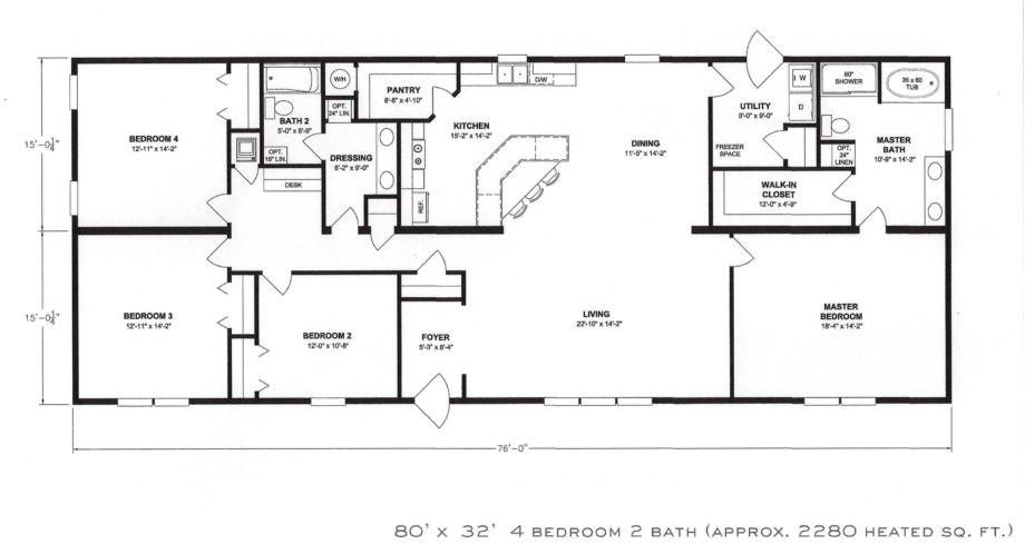 bedroom floorplans modular and manufactured homes in ar also 4 open floor plan
