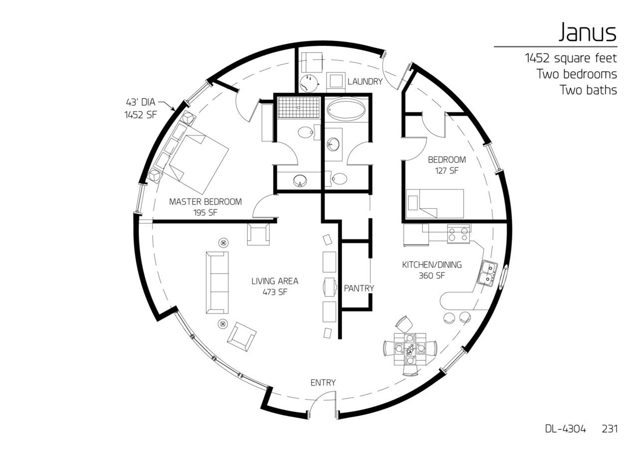 floor plan dl 4304
