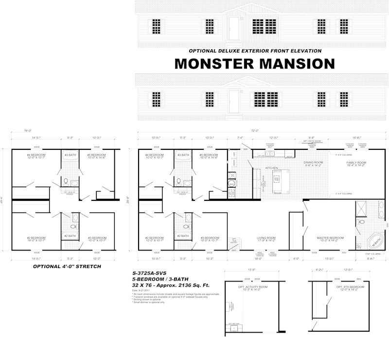 Monster Mansion Mobile Home Floor Plan Live Oak Homes Floor Plans