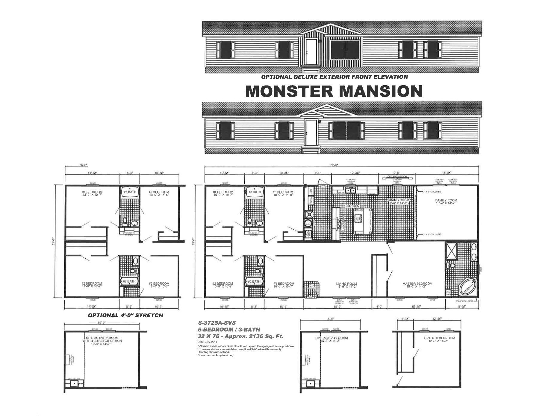 mansion mobile home floor plans
