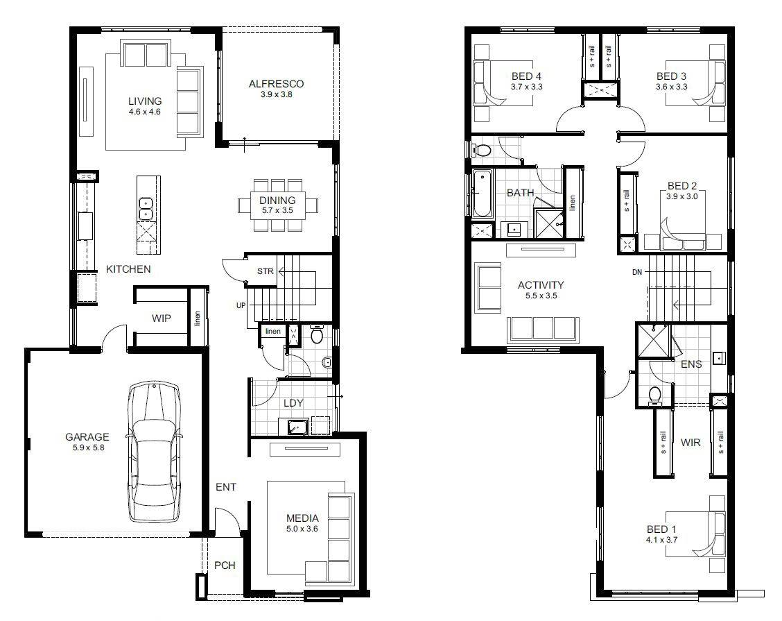 4 bedroom house designs 4 bedroom house plans 2 story 3d