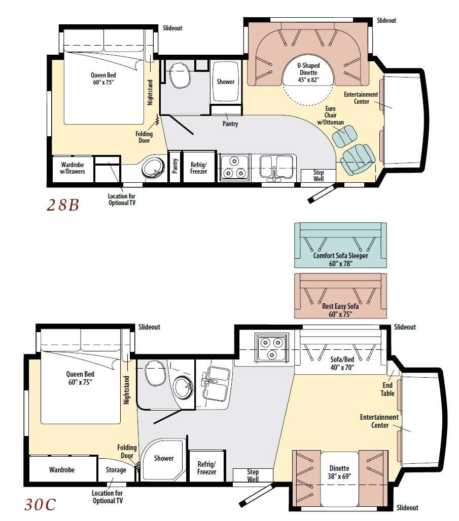 class c camper floor plans