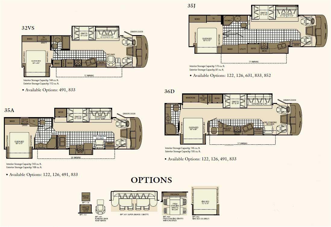 motor home floor plans