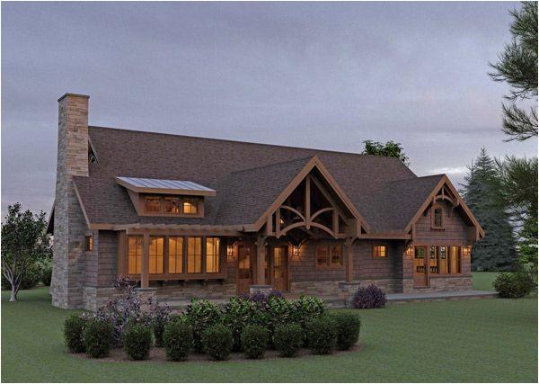 Mountain Craftsman Home Plan Rear Elevation Image Of Mountain Cottage Design House Plan