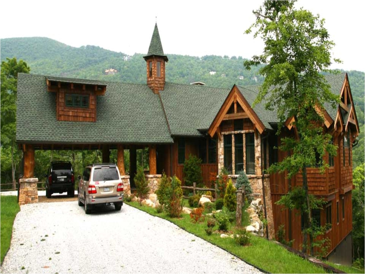 1 story mountain house plans