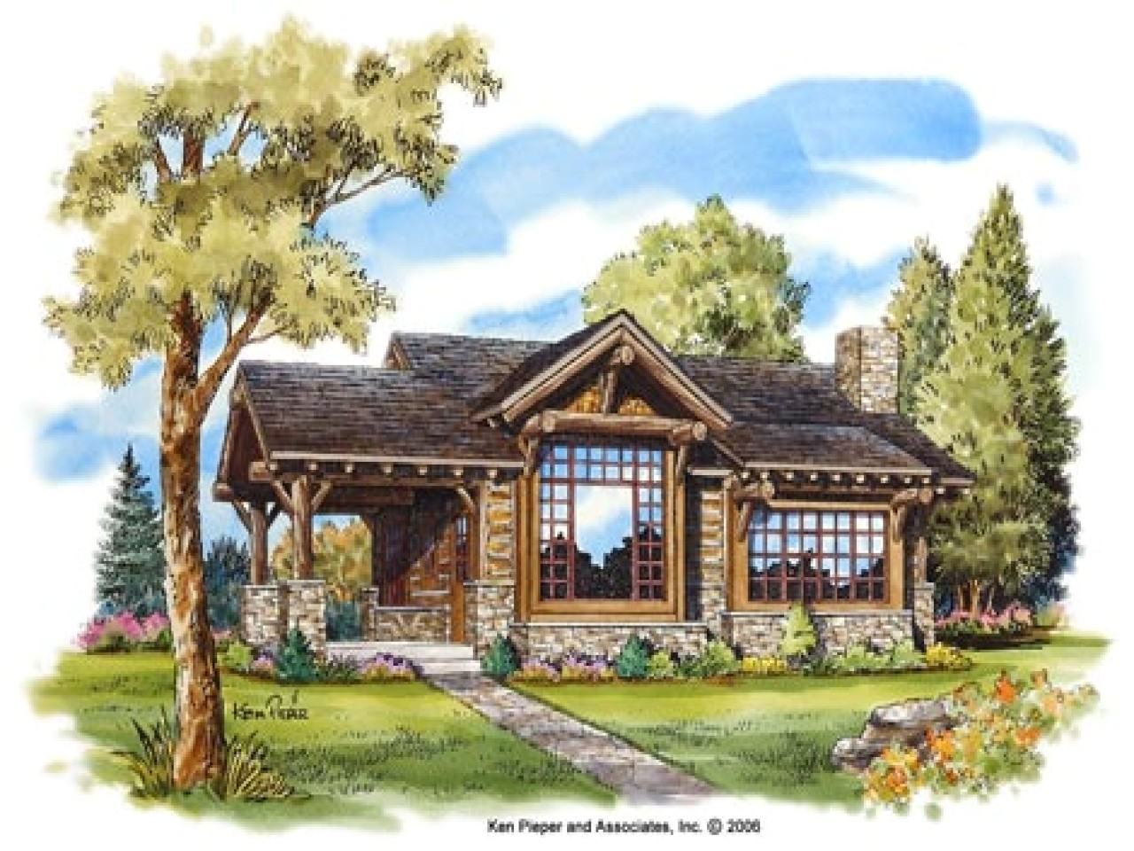 small mountain cottage plans