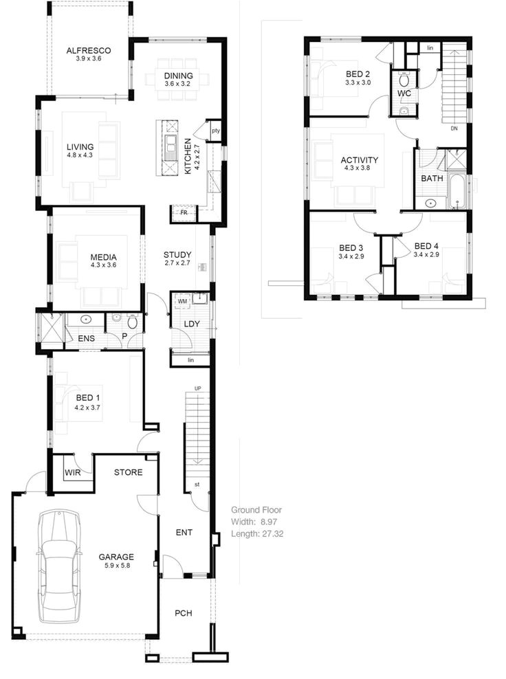Narrow Floor Plans for Houses the 25 Best Narrow House Plans Ideas On Pinterest