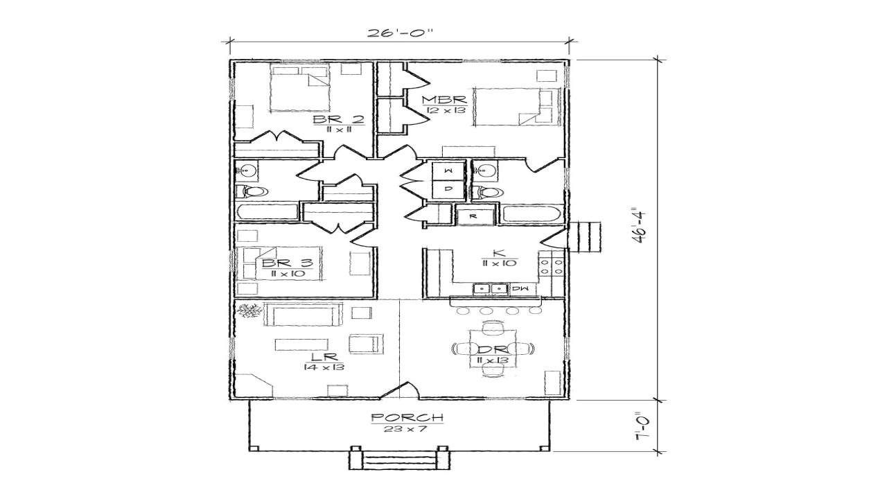 2c4d417886414ad7 bungalow cottage narrow lot plan narrow plan bungalow house with garage