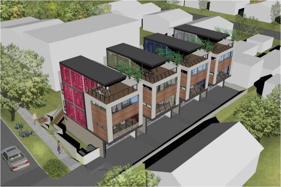 multi family house plans narrow lot