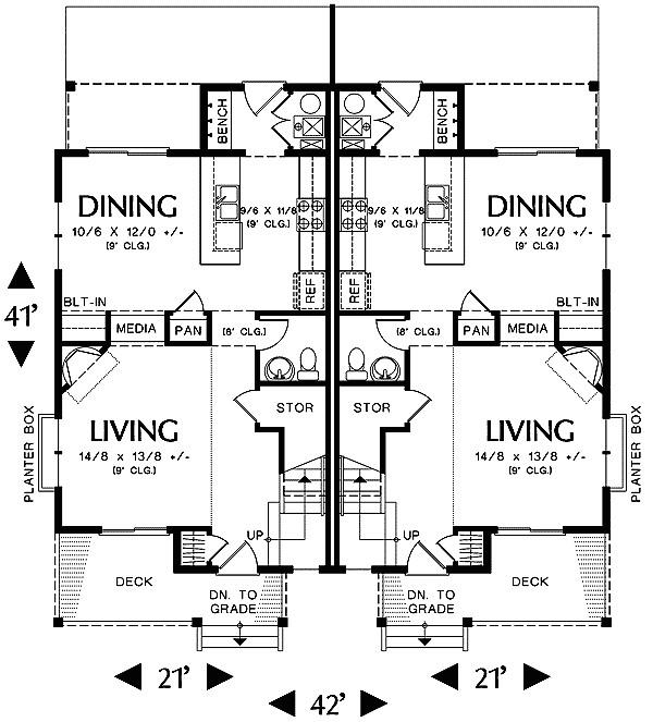 narrow lot multi family home 69464am