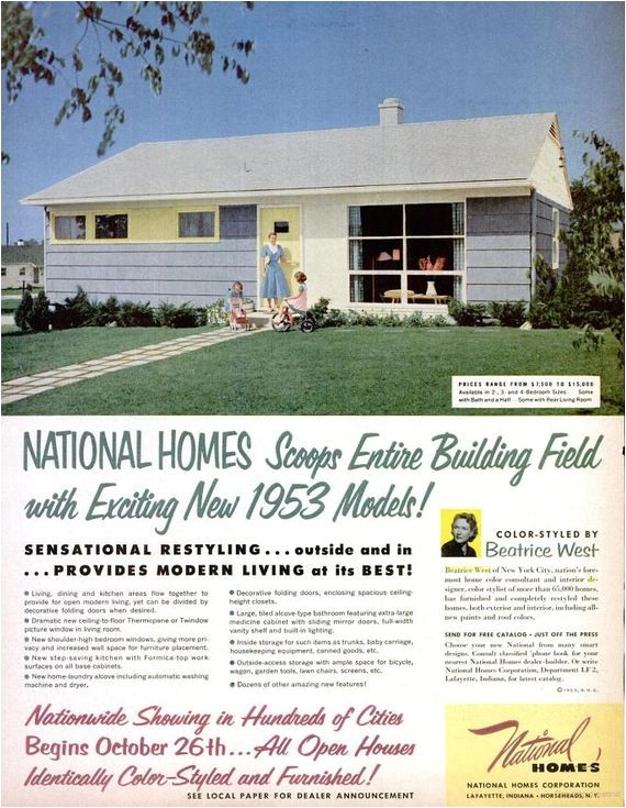 why mass produced national homes are interesting to me