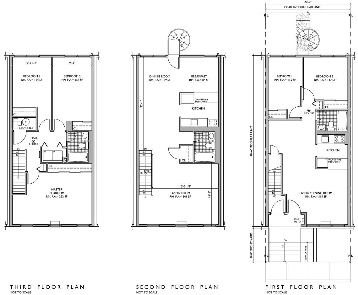 Nehemiah Homes Floor Plan the Endlessly Adaptable Row House Urban Omnibus