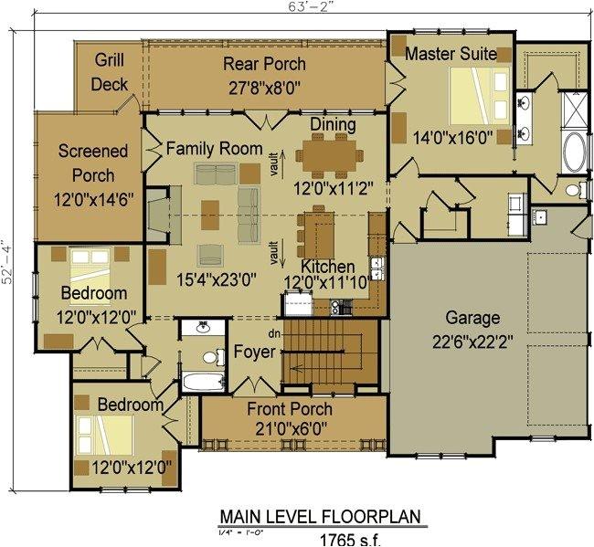 single story craftsman style house plans new e or two story craftsman house plan