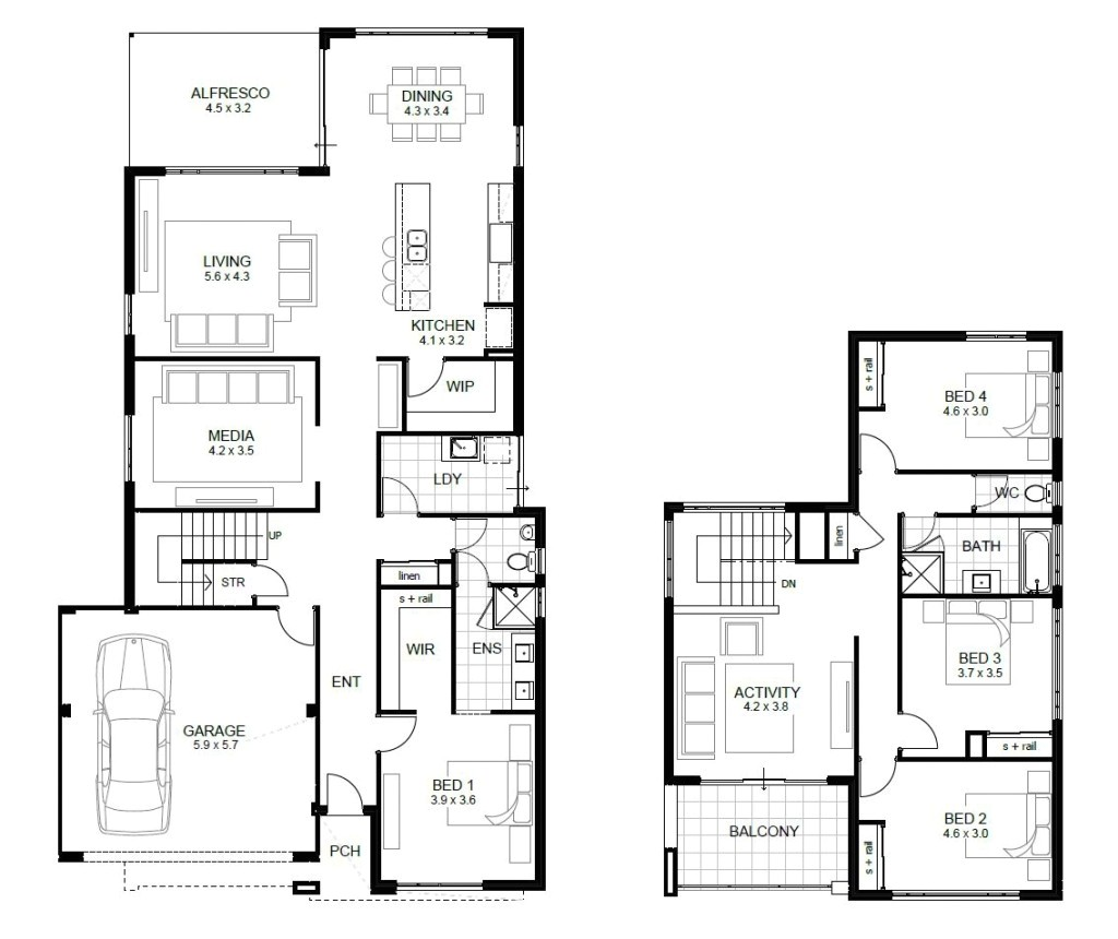 free 4 bedroom house plans and designs unique two story houses second floor plan sample modern house plans free