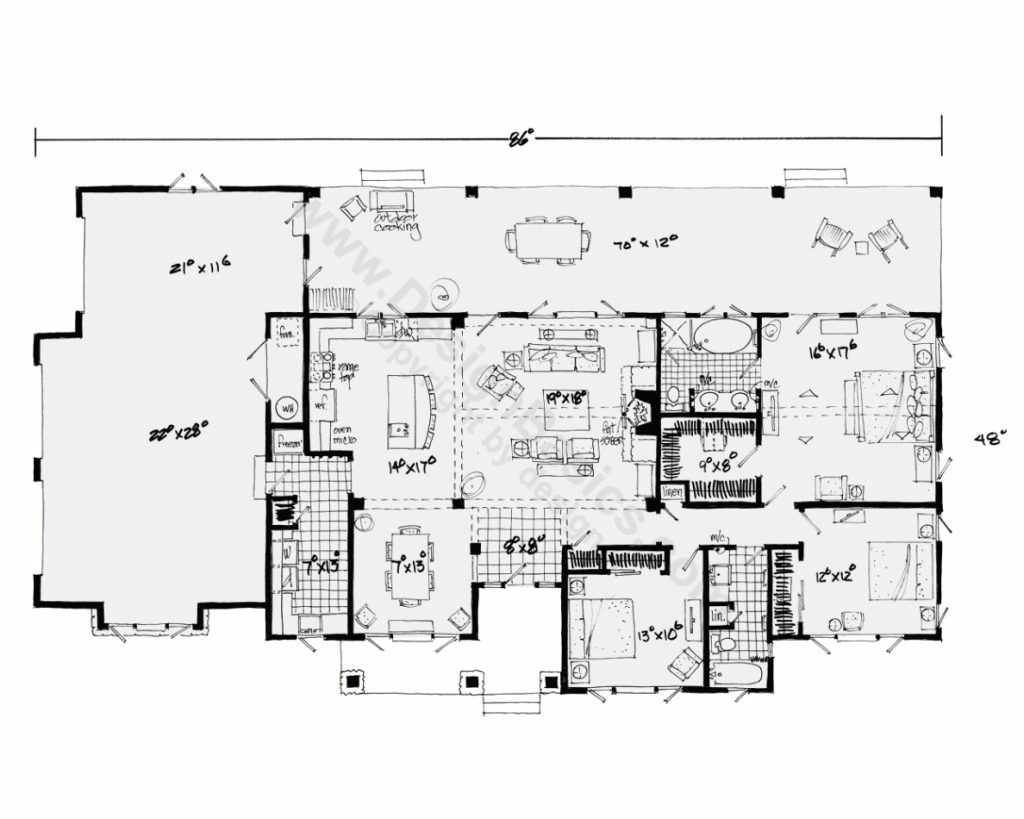 one story house plans with open floor plans design basics inside new home plans ranch style