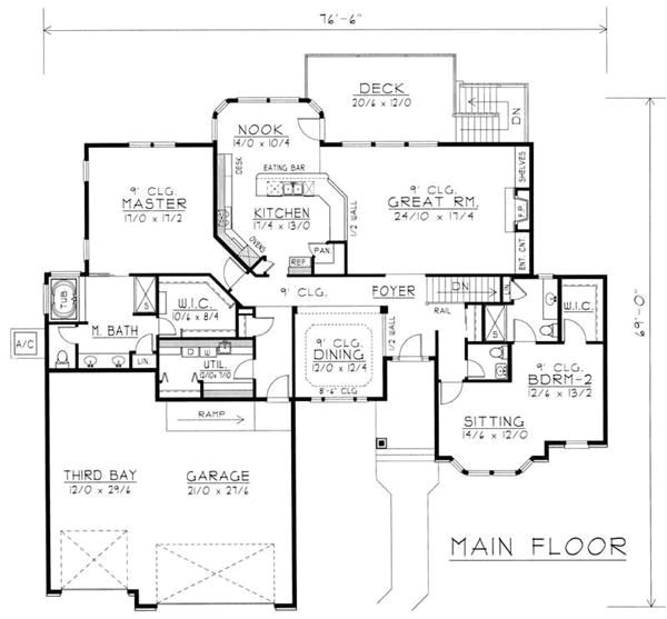contemporary house plans with inlaw