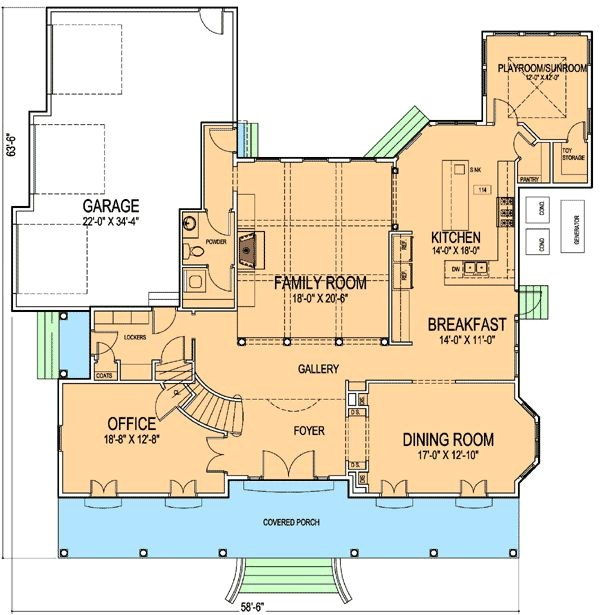 New orleans Home Floor Plans New orleans House Plan