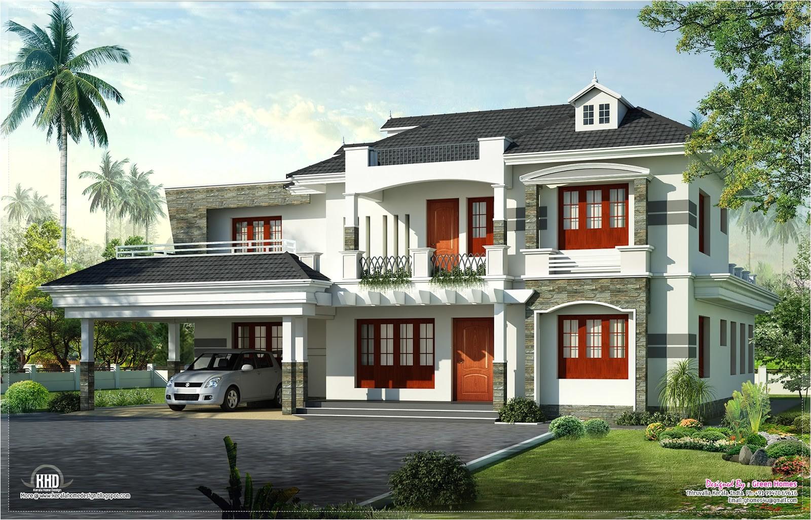 new style kerala luxury home exterior