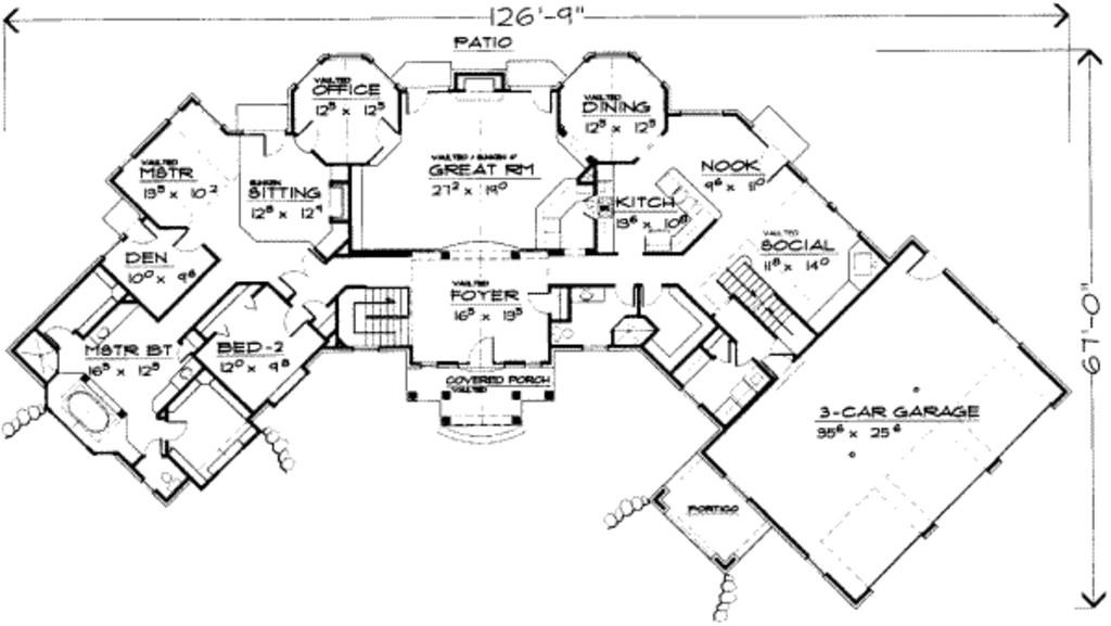 3913 square feet 8 bedrooms 4 5 bathroom luxury home plans 3 garage 19442