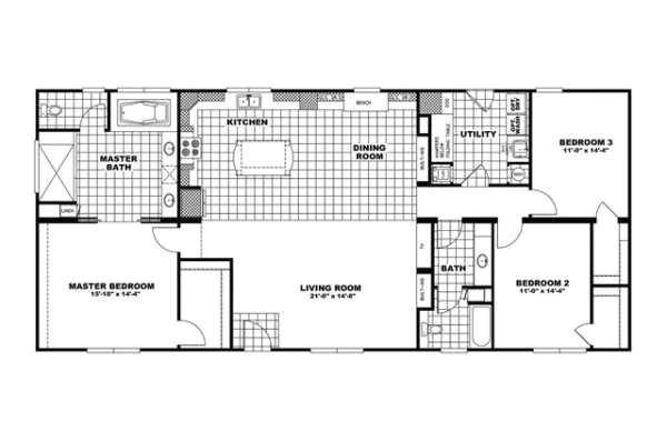 manufacturedhomefloorplan floorplan 14775 state sc city norris