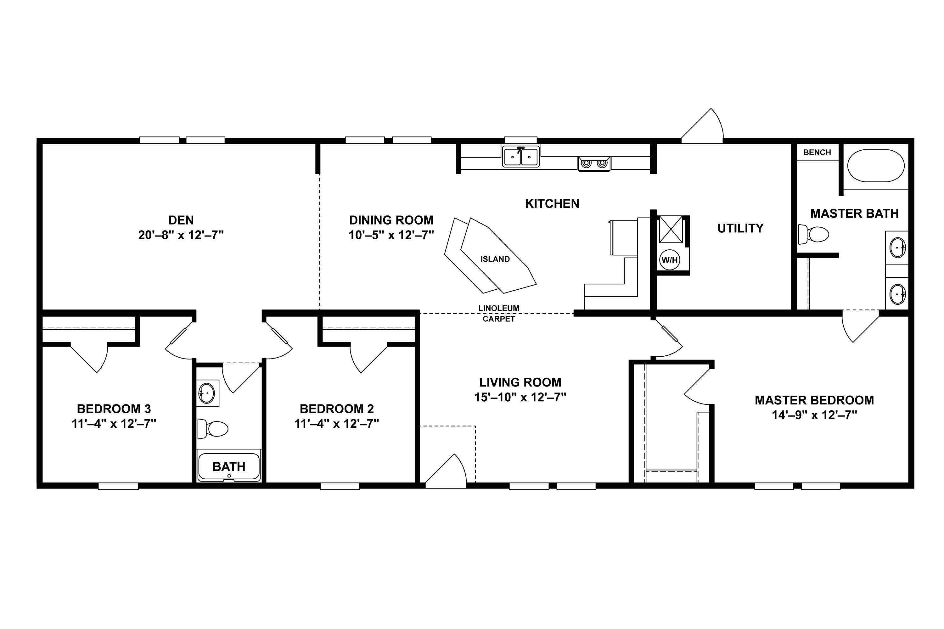 norris manufactured home floor plans
