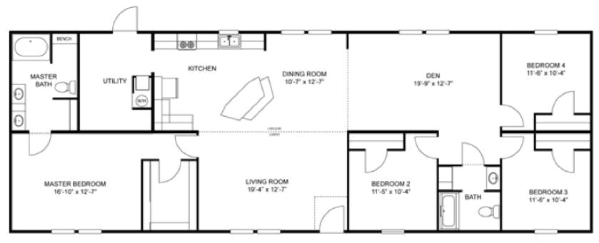 norris modular home floor plans lovely ah13 norris new and used single wide and double wide