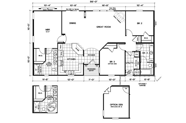1998 oakwood mobile home floor plan
