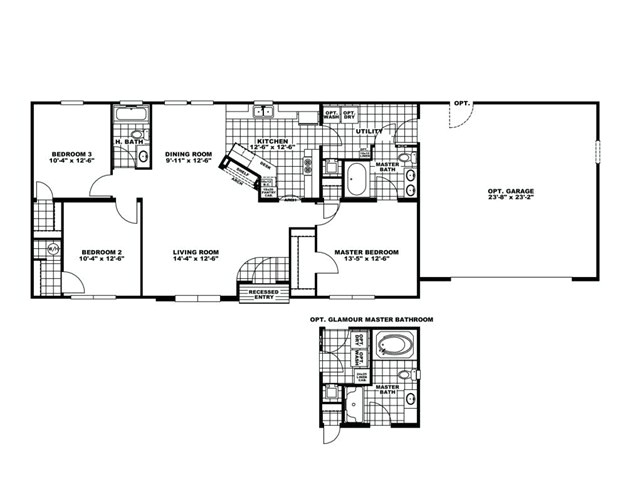 manufacturedhomefloorplan floorplan 8357 state tn city rutledge