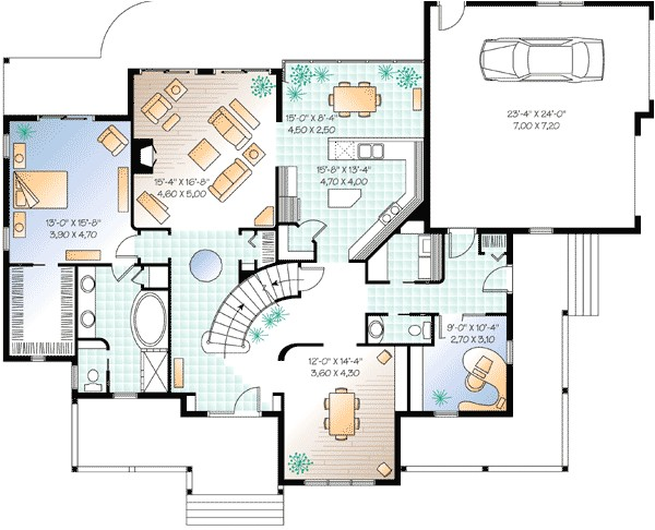 house plans with home office