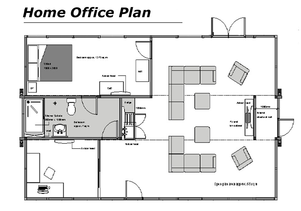 modern home office floor plans for a comfortable home office