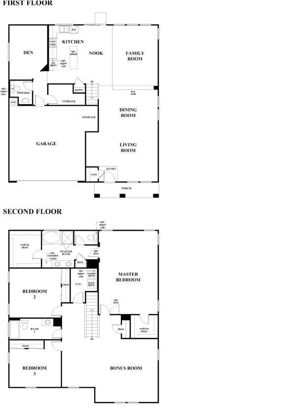Old Floor Plans Kb Homes Kb Homes Floor Plans House Plans Home Designs