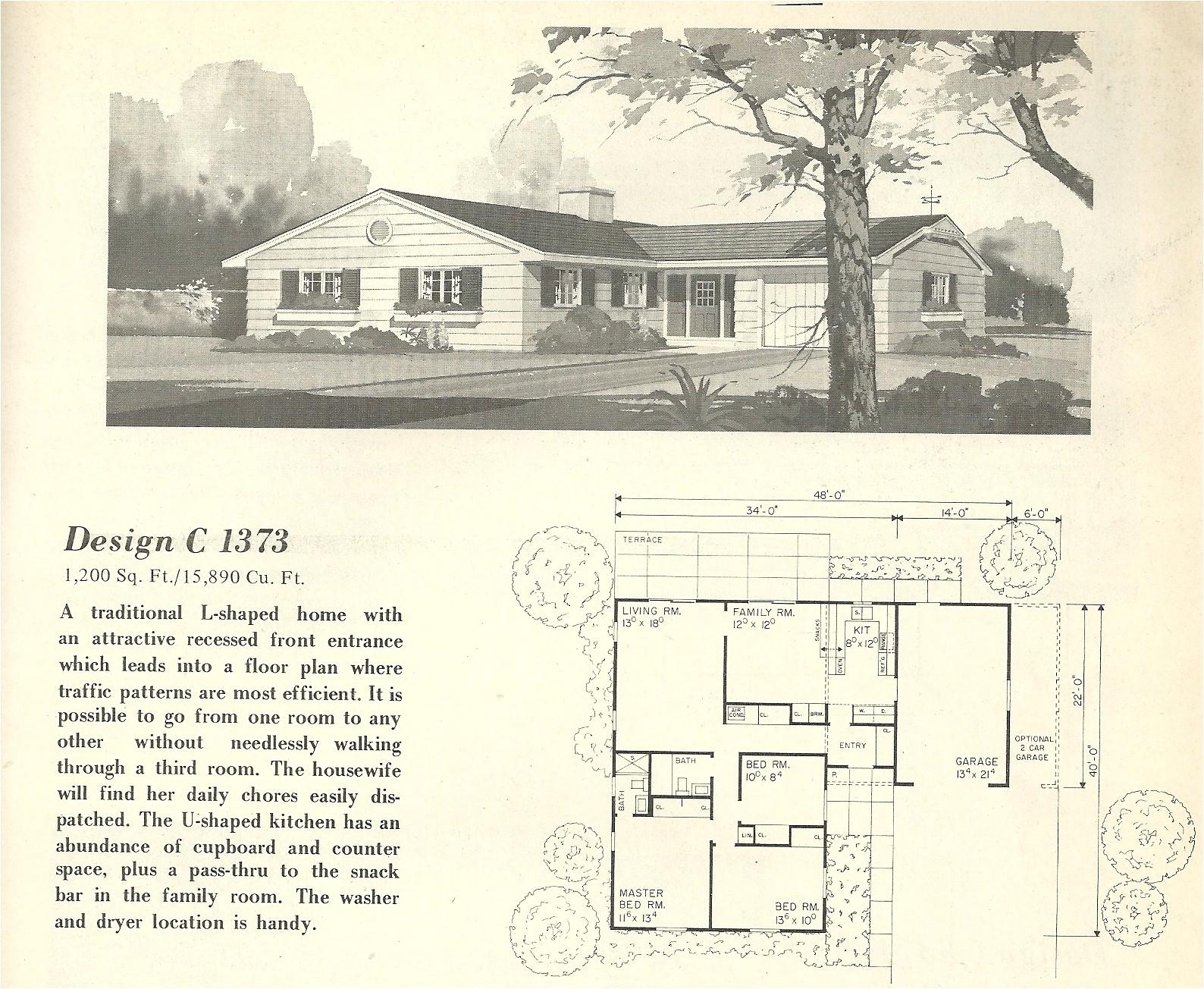 vintage house plans 1373