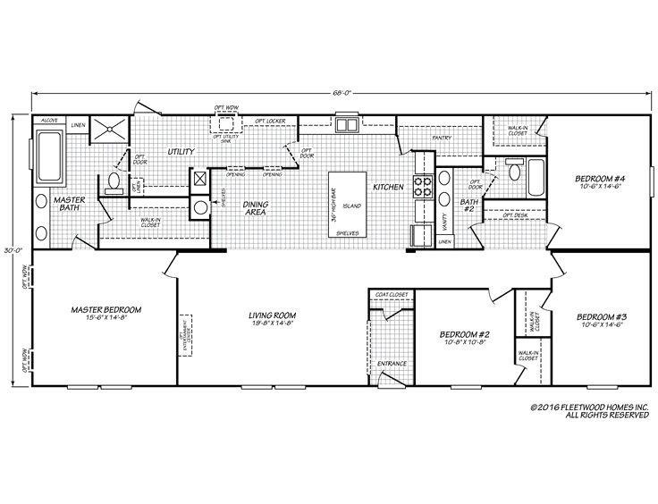 fleetwood mobile homes floor plans lovely fleetwood homes single wide floor plans
