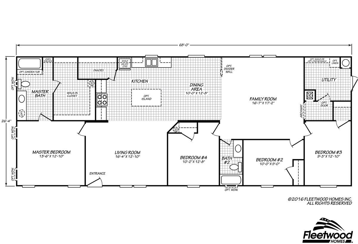 older fleetwood homes floor plans